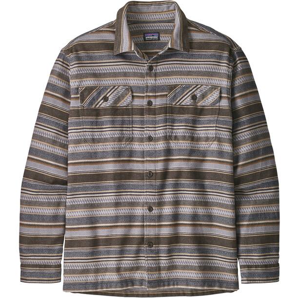 Patagonia Fjord LS Flannel Shirt Herr folk dobby/bristle brown