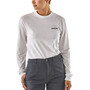 Patagonia P-6 Logo Responsibili-Tee Longsleeve Shirt Herr white
