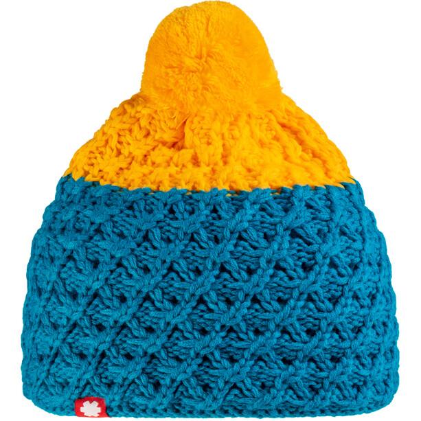 Ocun Macumba Pompom Mütze yellow/blue