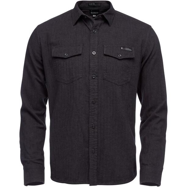 Black Diamond Sentinel LS Flannel Shirt Herr Carbon Heather