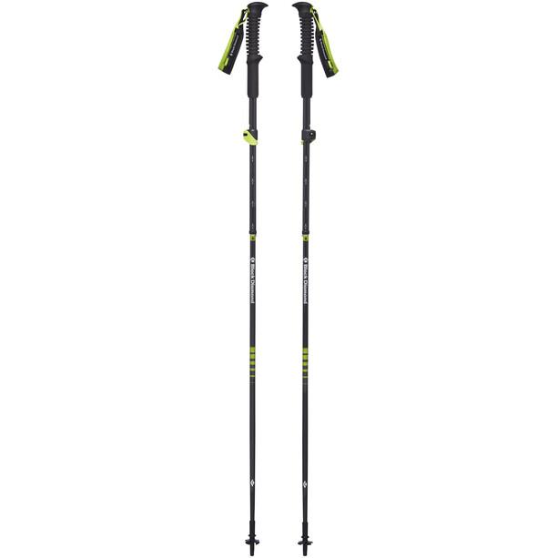 Black Diamond Distance Carbon Z Acc-Ready Trekking Poles svart/grön