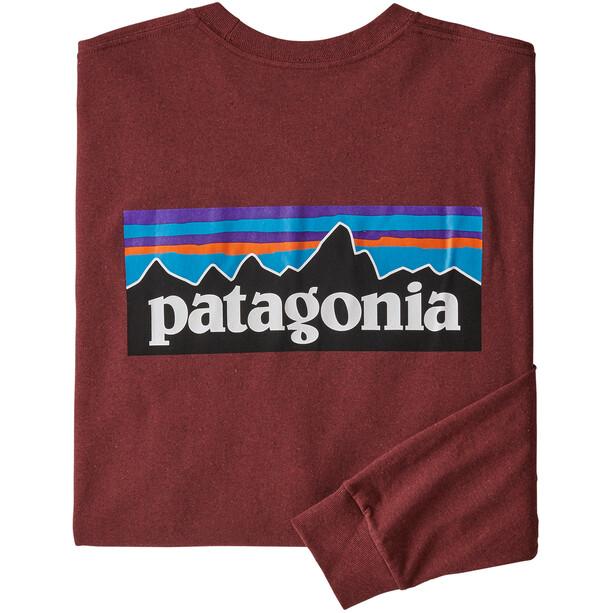 Patagonia P-6 Logo Langarm Responsibili-Tee Herren oxide red