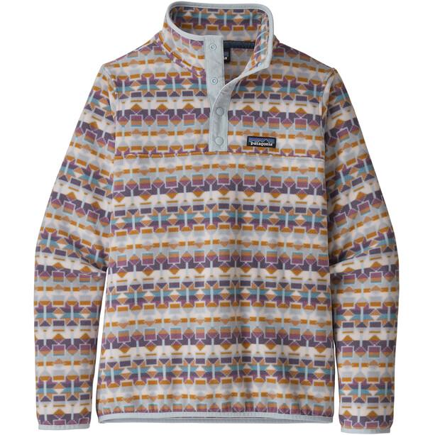 Patagonia Micro D Snap-T Pullover Damen cedar mesa/tailored grey