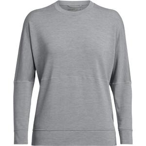 Icebreaker Momentum T-shirt manches longues à Col ras-du-cou Femme, gris gris