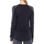 Icebreaker 260 Zone Langarm Rundhalsshirt Damen jet heather/black