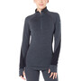 Icebreaker 260 Zone Langarm Half-Zip Shirt Damen jet heather/black