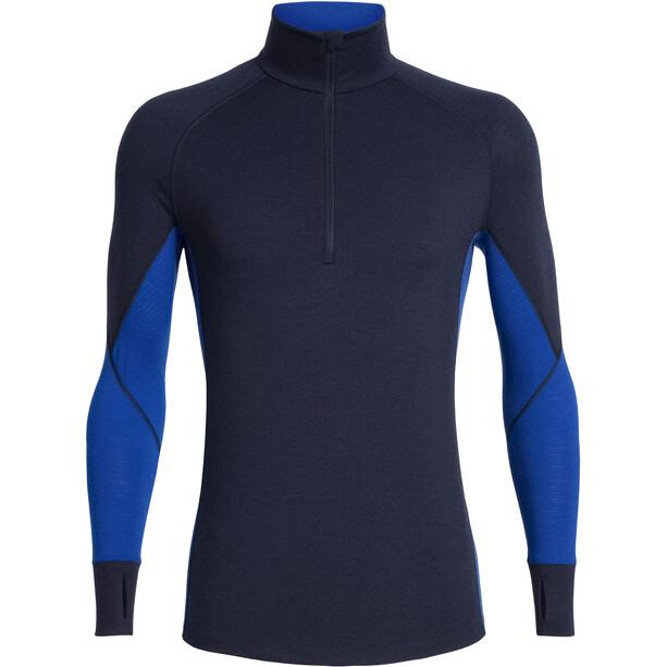 Icebreaker 260 Zone Langarm Half-Zip Shirt Herren midnight navy/surf