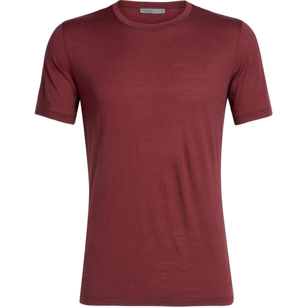 Icebreaker Tech Lite SS Crewe Shirt Herr cabernet
