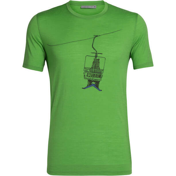 Icebreaker Tech Lite Bear Lift SS Crewe Shirt Herr Lawn