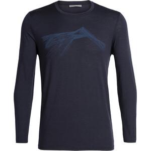 Icebreaker Tech Lite Shear LS Crewe Shirt Herr Midnight Navy Midnight Navy