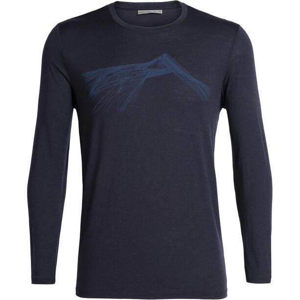 Icebreaker Tech Lite Shear LS Crewe Shirt Herr Midnight Navy