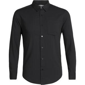 Icebreaker Steveston LS Flannel Shirt Herr Black Black