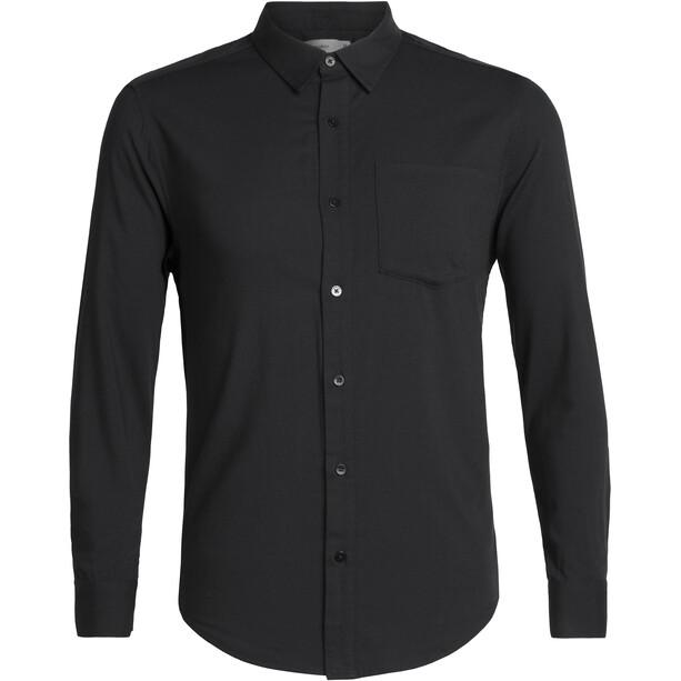 Icebreaker Steveston LS Flannel Shirt Herr Black