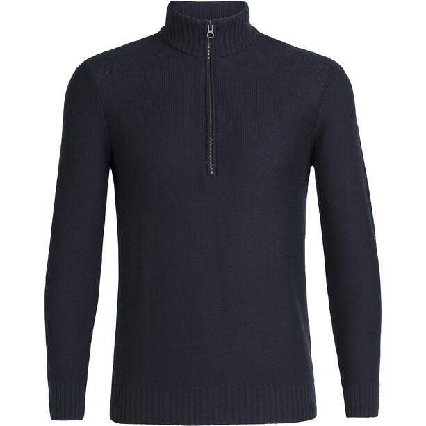 Icebreaker Waypoint LS Half Zip Shirt Herr Midnight Navy