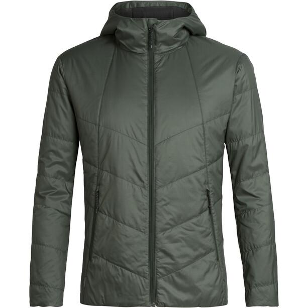 Icebreaker Helix Hooded Jacket Herr Forestwood/Black
