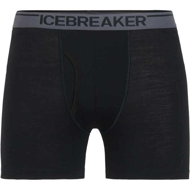 Icebreaker Anatomica Boxers with Fly Herr black