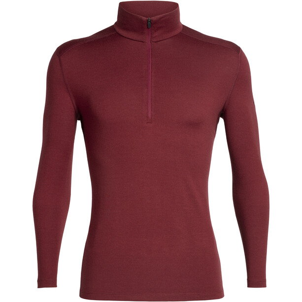 Icebreaker 260 Tech LS Half Zip Shirt Herr cabernet