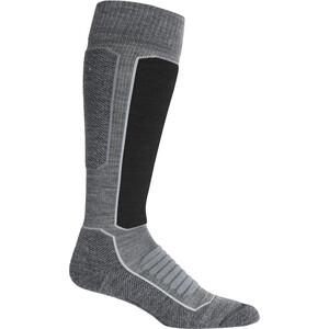 Icebreaker Ski+ Medium OTC Socks Dam Gritstone Heather/Black Gritstone Heather/Black