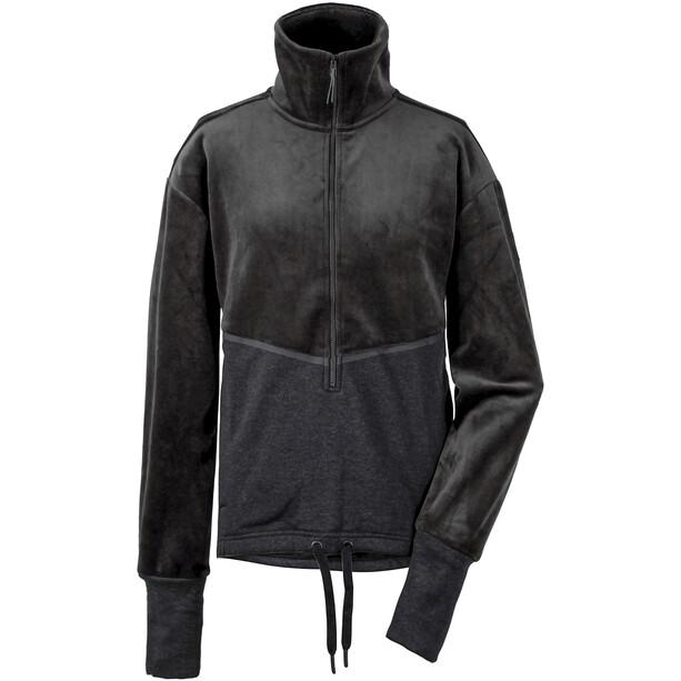 DIDRIKSONS Pia Halfzip Sweater Damen schwarz