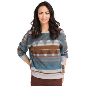 Prana Cozy Up Bedrucktes Sweatshirt Damen blue note eldorado blue note eldorado