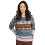 Prana Cozy Up Bedrucktes Sweatshirt Damen blue note eldorado