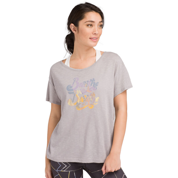 Prana Chez T-Shirt Damen heather grey breathe