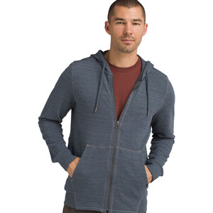 Prana Stowe Full-Zip Hoodie Herren grey blue heather grey blue heather