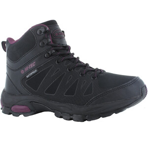 Hi-Tec Raven WP Mid-Cut Schuhe Damen black/grape wine black/grape wine