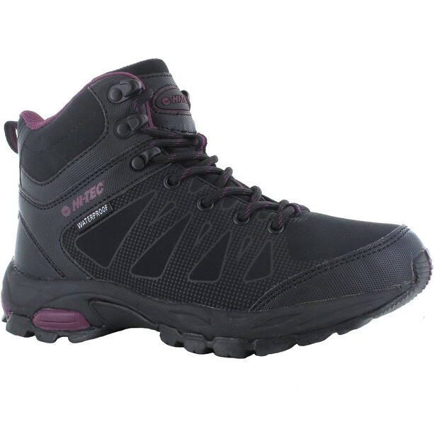 Hi-Tec Raven WP Mid-Cut Schuhe Damen black/grape wine