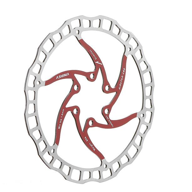 ASHIMA ARO-08 Airedor Brake Disc 6-Bolt red