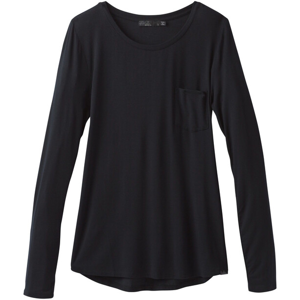 Prana Foundation Longsleeve Shirt Crew Dam Black