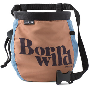 Prana Graphic Chalk Bag with Belt Born Wild Born Wild