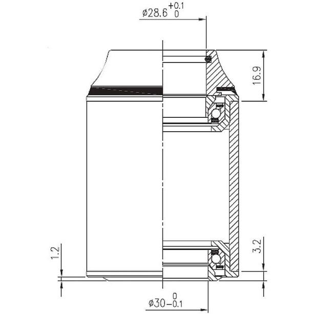 Cube FSA Orbit Z Steuersatz ZS44/28.6 I ZS44/30 schwarz