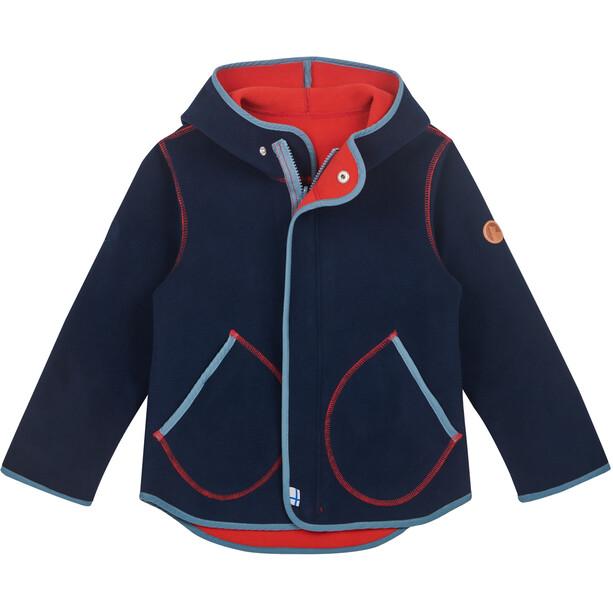 Finkid Jumppa Zip in Fleece Innenjacke Kinder navy/blue mirage