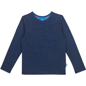Finkid Taamo Wool Langarmshirt Kinder navy/denim navy/denim