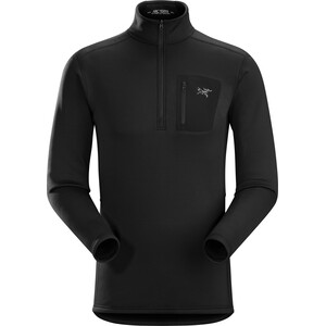 Arc'teryx Rho AR Zip Kragen Baselayer Herren black black