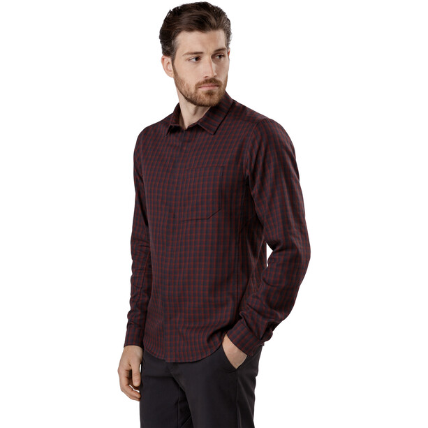 Arc'teryx Bernal LS Shirt Herr Black Baccara