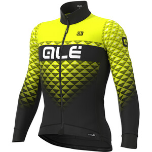 Alé Cycling PR-S Hexa DWR Maillot À Manches Longues Homme, black-fluo yellow black-fluo yellow