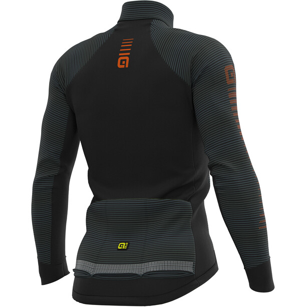 Alé Cycling Graphics PRR Thermo Road LS Jersey Men black-fluo yellow