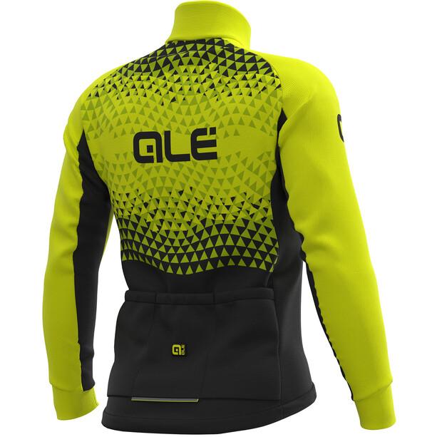 Alé Cycling Solid Summit DWR Jacke Herren black-fluo yellow