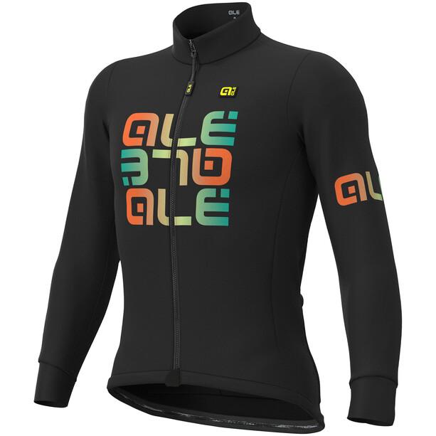 Alé Cycling Solid Mirror Winter Langarm Trikot Herren black