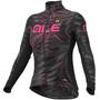 Alé Cycling Graphics PRR Sunset Langarm Trikot Damen black-fluo pink