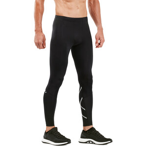 2XU Run Compression Tights with Back Storage Men, black/silver reflective black/silver reflective