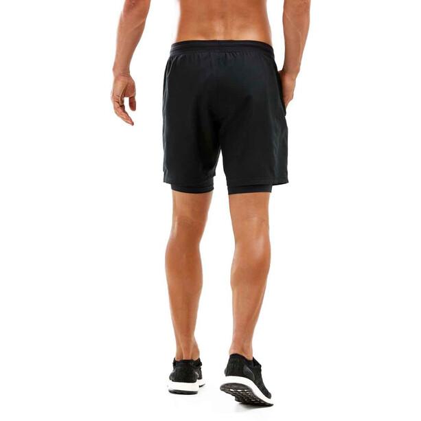 "2XU Kompressions 7"" 2in1 Shorts Herren black/black"