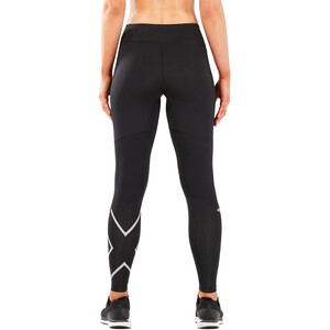 2XU Run Mid Rise Compression Tights Women, black/silver reflective black/silver reflective
