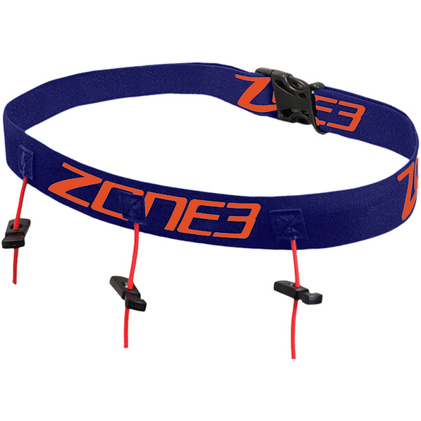 Zone3 Laufgürtel mit Gel-Schlaufen navy/orange