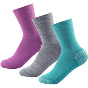 Devold Daily Medium Socken 3er Pack Kinder bunt bunt