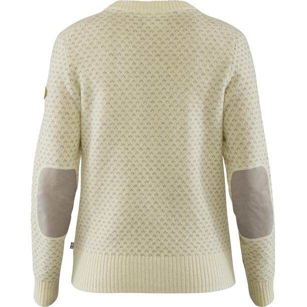 Fjällräven Övik Nordic Sweater Damen weiß