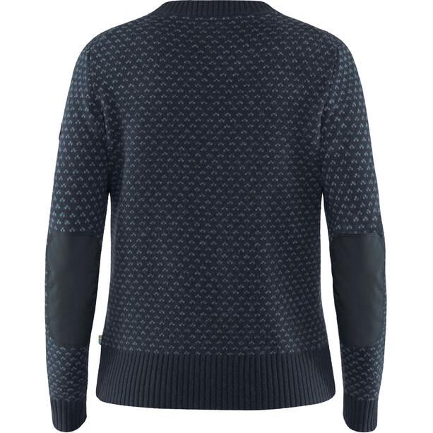 Fjällräven Övik Nordic Sweater Damen dark navy