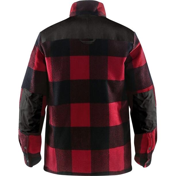 Fjällräven Canada Gefütterte Wolljacke Herren red
